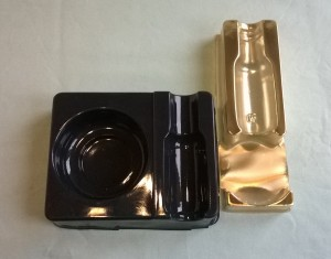 Vac formed bottle tray